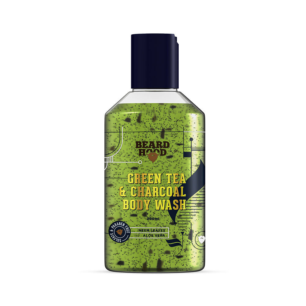 Green Tea & Charcoal Body Wash, 200ml