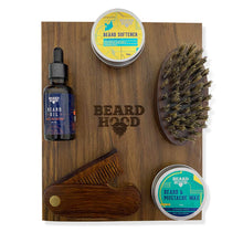Load image into Gallery viewer, Ultimate Beard Grooming Box | Sheesham Wood | Earthy Tones Scent