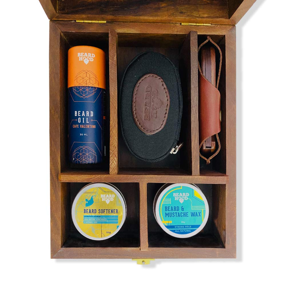 Ultimate Beard Grooming Box | Sheesham Wood | Earthy Tones Scent