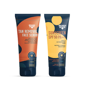 Tan Removal Face Scrub & Sunscreen Combo