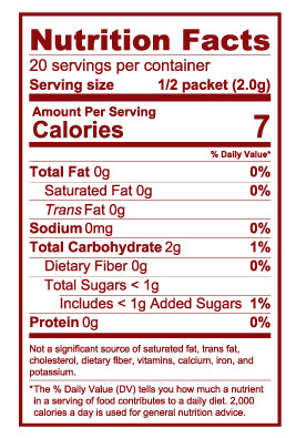 LIFT Nutrition Facts