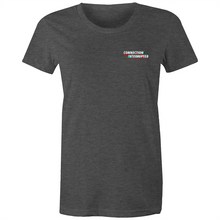 "Load image into Gallery viewer, BlueBirdRP - ""Connection Interrupted"" - Premium Women's Pocket Print Shirt"