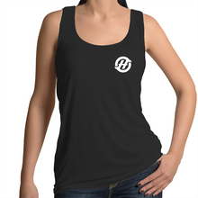 "Load image into Gallery viewer, HYP3RSTRIKE - ""Filled Logo"" - Womens Singlet Top"