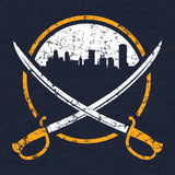 City Swords (Navy) - Apparel