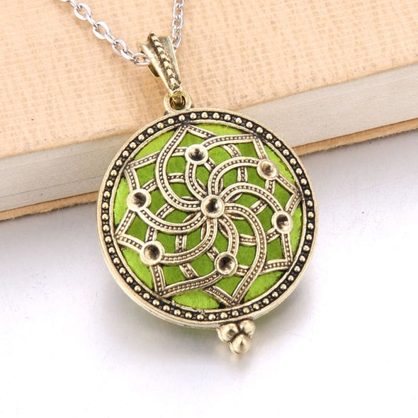 Aromatherapy Necklace - Aromatherapy Essential Oil Diffuser Locket
