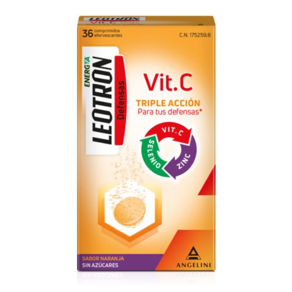 LEOTRON VITAMINA C ANGELINI 36+18 COMP EFERVESCENTES