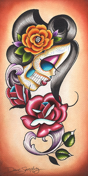 Autumn Rose Day of the Dead Girl