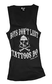 Boys Dont Last - Tattoos Do Tank Top