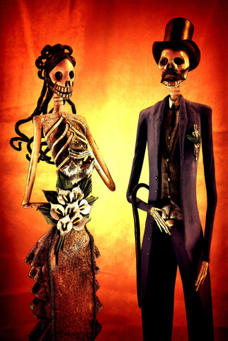 Bride and Groom - Dia De Los Muertos