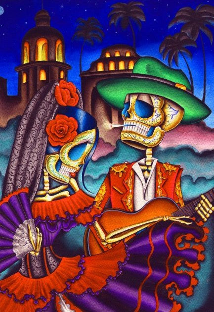 Day Of The Dead Dancing Couple