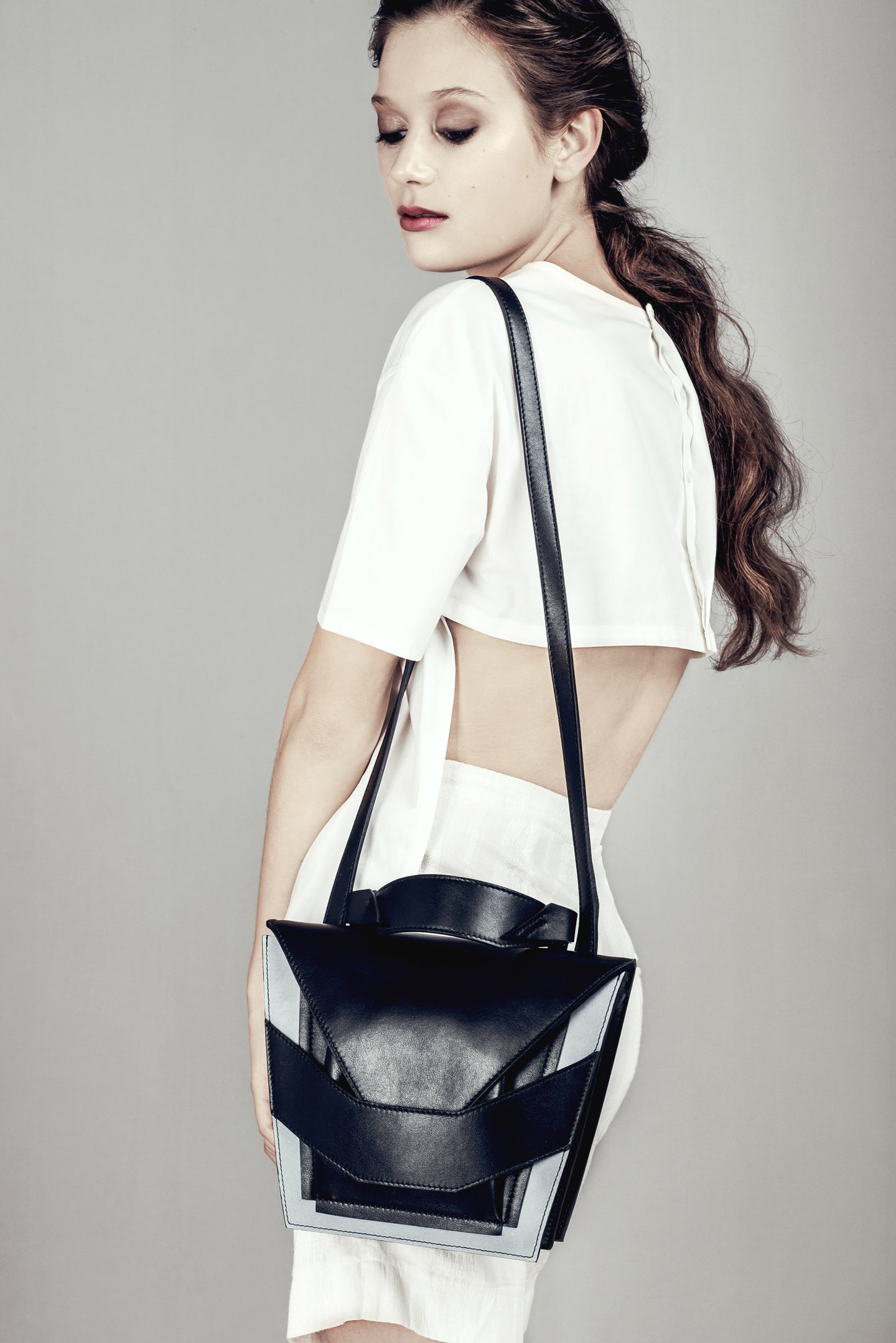 Layered Black Sky Bag
