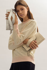 Mini Diagonal Extra Slashed Clutch - Alternative Natural