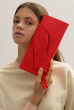 Load image into Gallery viewer, Mini Diagonal Slashed Clutch - Alternative Poppy