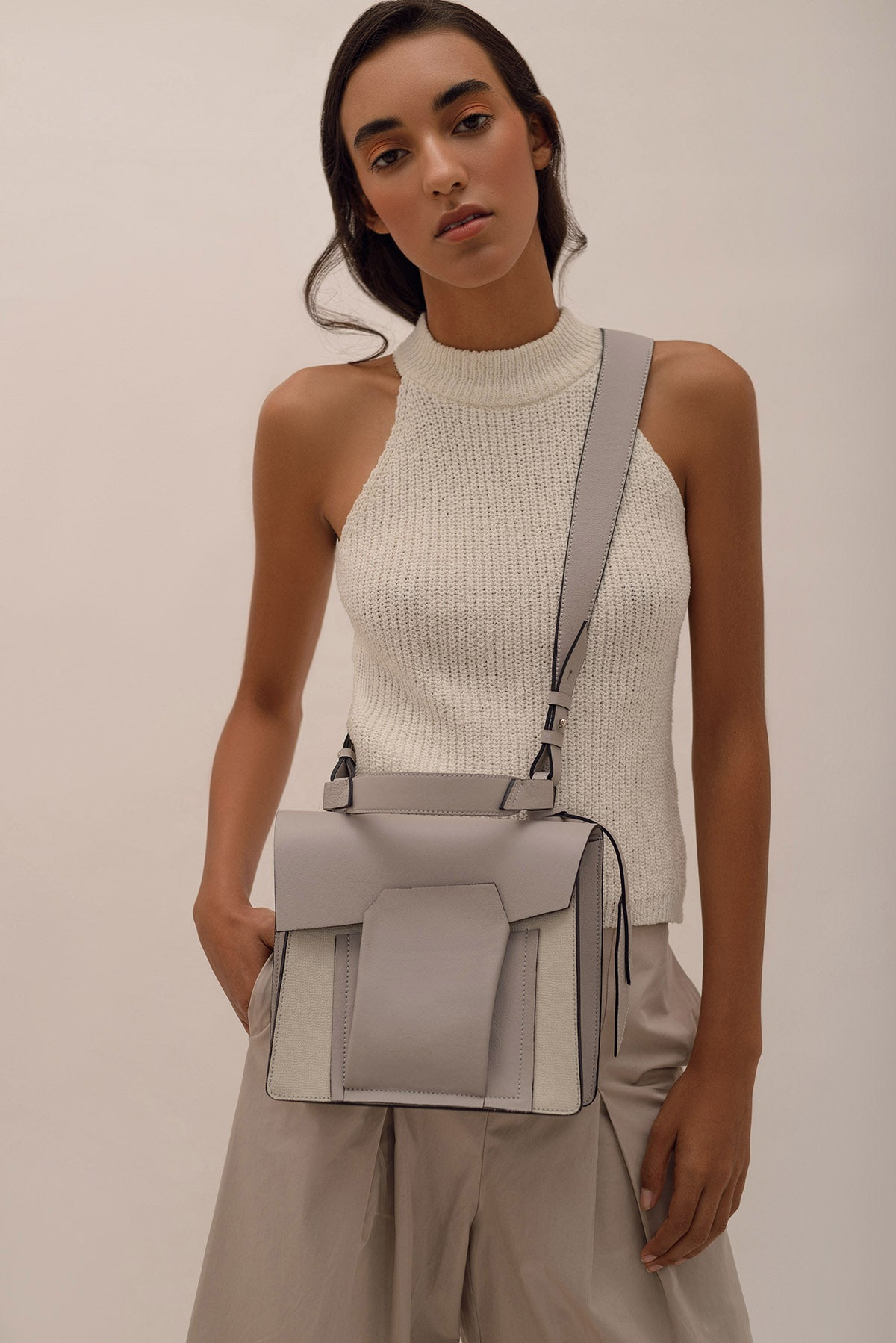 Shift Bag - Ivory Texture