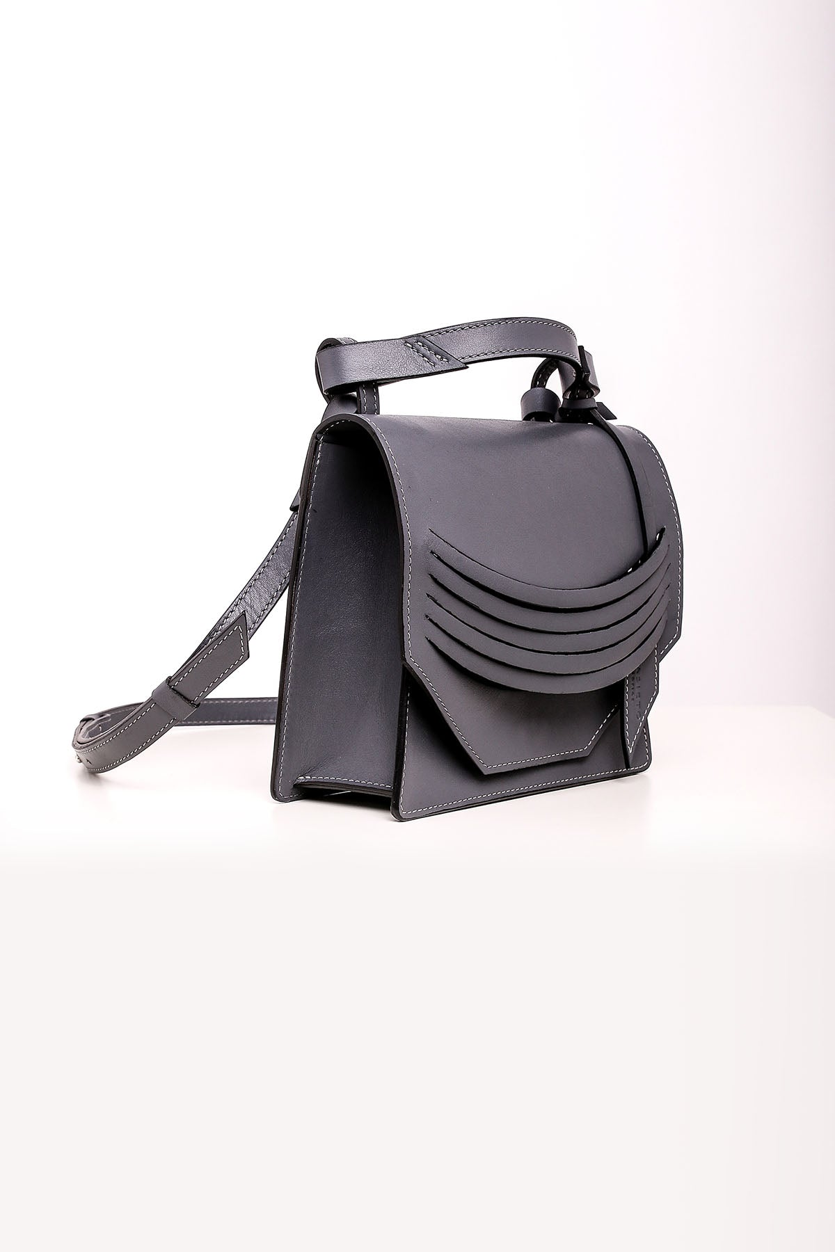 Mini Extreme Slashed Bag - Steel Grey