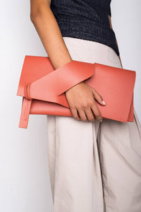 Curved Slashed Clutch + Colour Options