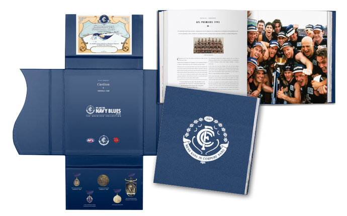 Carlton Numbered Players Edition History Archive Book (Only 100 Produced)