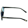 Round Aqua Blue And Black Sunglasses For Men And Women-SunglassesCraft