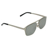 Rectangle Grey and Silver Sunglasses For Men And Women-SunglassesCraft