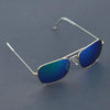 Raees Gold And Aqua Mercury Square Sunglasses For Men And Women-SunglassesCraft