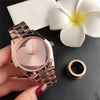 Luxury Round Heart Shape Stainless Steel Women Watch-SunglassesCraft