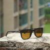 Eclipse Brown Retro Square Sunglasses For Men And Women-SunglassesCraft