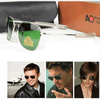 Aviation 2020 High Quality Brand Rectangle American Army Military Sunglasses For Men And Women-SunglassesCraft