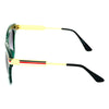 Rectangle Shaded Blue And Gold Sunglasses For Men And Women-SunglassesCraft