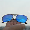 Raees Black And Aqua Mercury Square Sunglasses For Men And Women-SunglassesCraft
