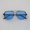 Rectangular Square Black Blue Candy Sunglasses For Men And Women-SunglassesCraft
