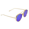 Round Blue And Gold  Sunglasses For Men And Women-SunglassesCraft