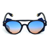 Round Shaded Blue And Black Sunglasses For Men And Women-SunglassesCraft