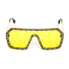 Rectangle Yellow And Gold Sunglasses For Men And Women-SunglassesCraft