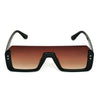 Way Oval Shaded Brown And Black Sunglasses For Men And Women-SunglassesCraft