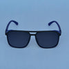 Rectangle Shaded Maroon And Blue Polarized Sunglasses For Men And Women-SunglassesCraft
