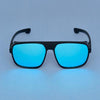 Rectangle Light Blue And Black Sunglasse For Men And Women-SunglassesCraft