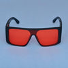 Rectangle Red And Black Sunglasses For Men And Women-SunglassesCraft