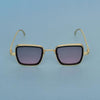Shaded Pink And Gold Retro Square Sunglasses For Men And Women-SunglassesCraft
