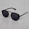 Metal Frame Round Full Black Sunglasses For Men And Women-SunglassesCraft