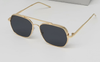 Hardik Pandya Stylish Square Metal Frame Sunglasses For Men And Women-SunglassesCraft