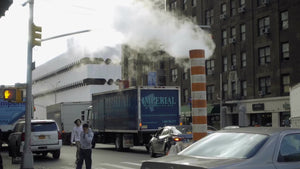 construction steam pipe on 7th ave in Manhattan NYC 1080 HD