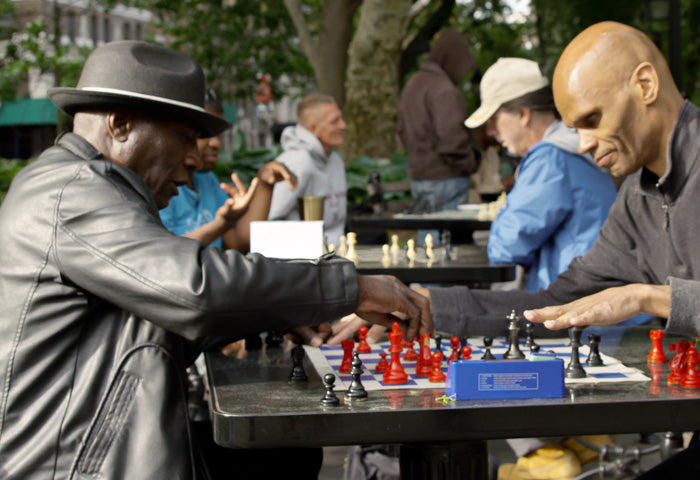 Chess masters in park