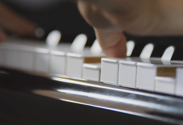 still of piano from Nelson Diaz music video