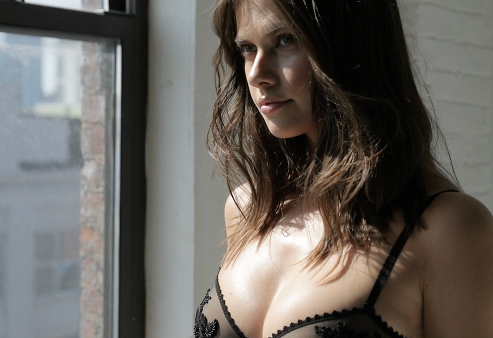 Still from Journelle lingerie ad