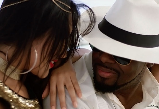 Still of Wyclef Jean from music video
