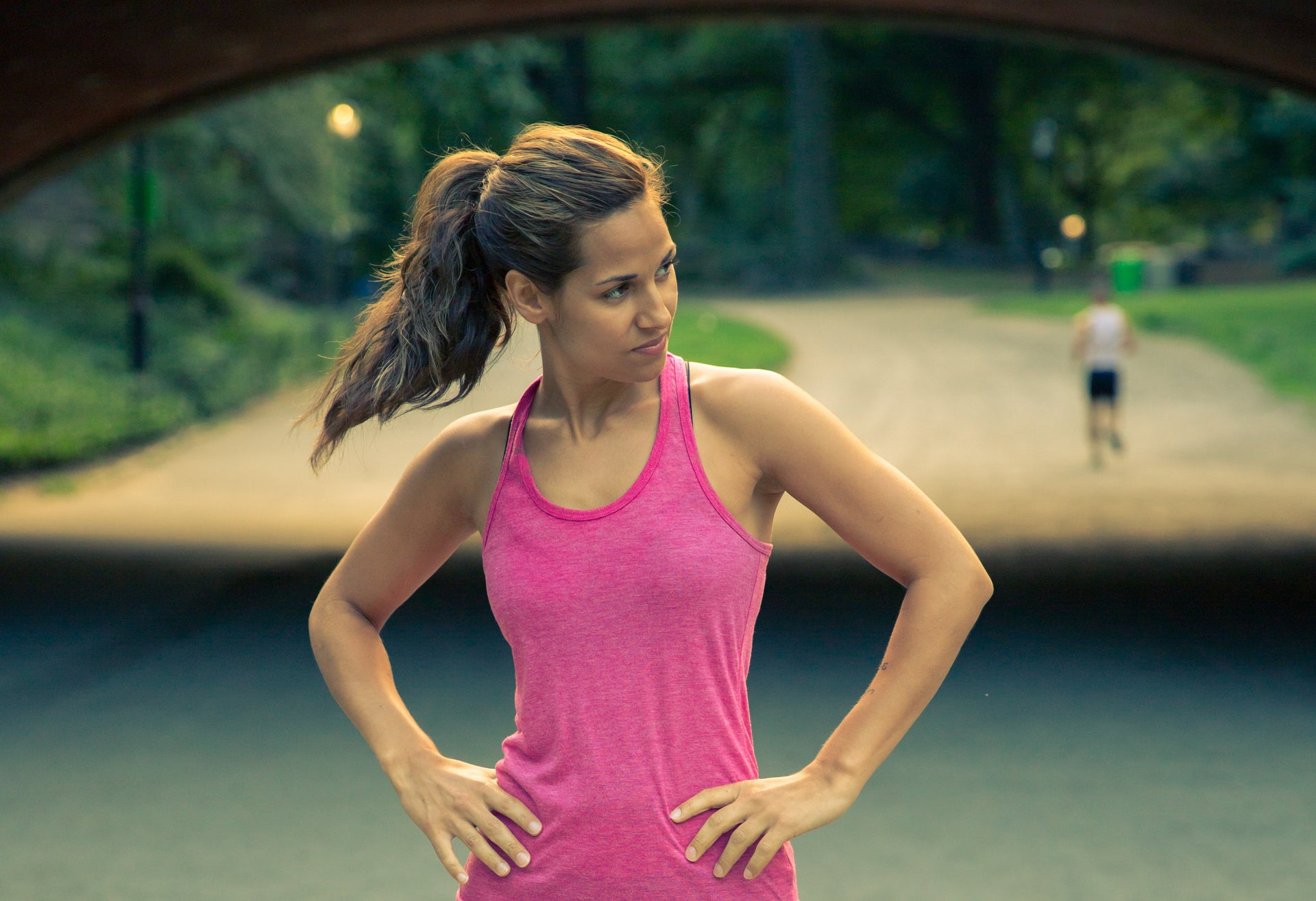 Fitness woman in the park