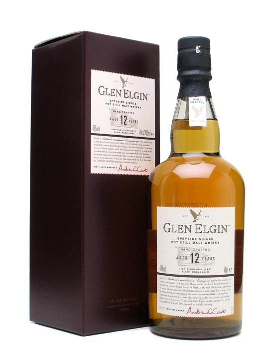 glen elgin, single malt, 12 years old, speyside, skotsk whisky