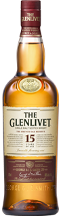 The Glenlivet 15 years 43% m/2 glas UDSOLGT