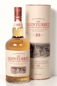 Glenturret 10 years single malt whisky Highland malt