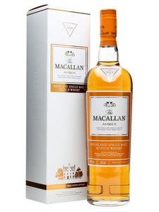 Macallan amber scotch whisky
